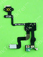 Шлейф кнопки включения iPhone 4S сенсора, датчика приближения Копия