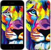 "Чехол на iPhone 6s Plus Разноцветный лев ""2713c-91"""