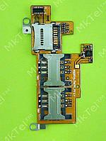 Шлейф коннектора SIM карты FLY IQ275 Marathon, карты памяти Оригинал