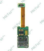 Шлейф коннектора SIM карты Nokia E65, карты памяти Копия