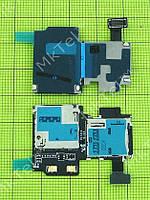 Шлейф коннектора SIM карты Samsung Galaxy S4 i9505 Оригинал Китай