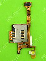 Шлейф коннектора SIM карты, вспышки Sony Ericsson W705 Оригинал Китай