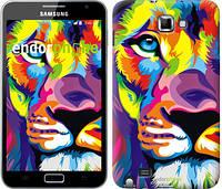 """Чехол на Samsung Galaxy Note i9220 Разноцветный лев """"2713u-316"""""""