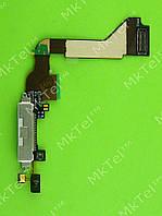 Шлейф разъема зарядки iPhone 4G Оригинал элем. Белый