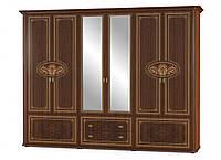 Шкаф в спальню 6Дв Алабама 285х63х221 см. ВишняПортофино