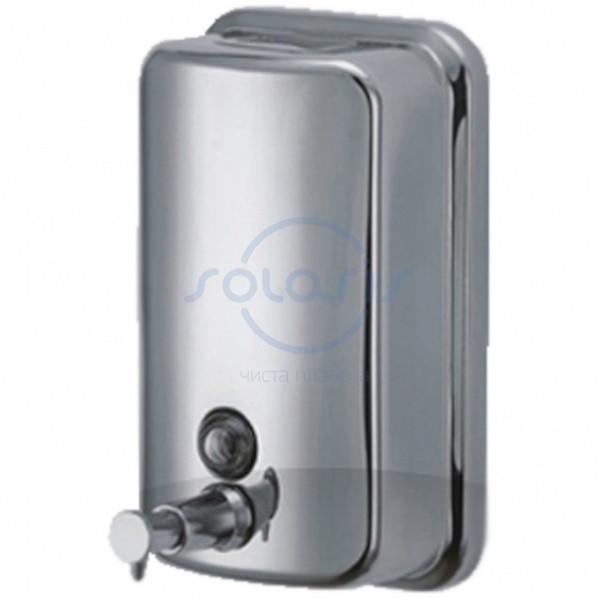 Дозатор жидкого мыла, нержавеющая сталь, полированный, 1 л (ZG-1601)
