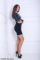 Женское платье Подіум Rosewood 14064-BLACK S Черный