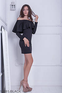 Женское платье Подіум Avellana 13681-BLACK S Черный