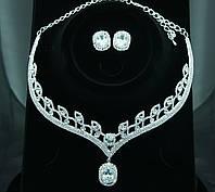 133. Свадебное колье с сережками
