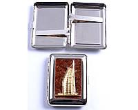 Портсигар на 18 сигарет Здание Парус №2439-6 SO