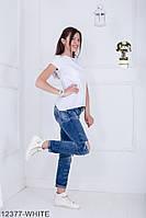 Женская блузка-туника Подіум Jucca 12377-WHITE S Белый