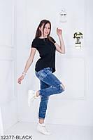 Женская блузка-туника Подіум Jucca 12377-BLACK S Черный