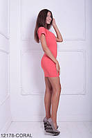 Женское платье Подіум Yorkshire 12178-CORAL S Персиковый