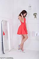 Женское платье Подіум Ivory 12171-CORAL XS Персиковый