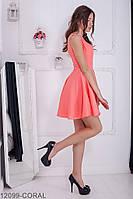 Женское платье Подіум Syrian 12099-CORAL S Персиковый