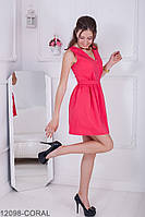 Женское платье Queen' Подіумs 12098-CORAL S Персиковый