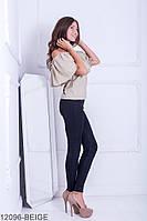 Женская блузка Подіум Pasteca 12096-BEIGE S Бежевый