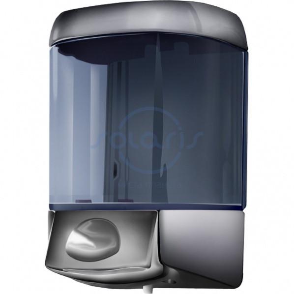 Дозатор жидкого мыла, пластик, хромированный, 600 мл (775s)
