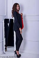 Женский пиджак-кардиган Подіум Cowl 11232-BLACK/RED S Черный