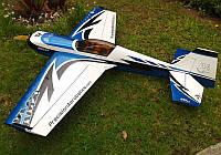 Самолёт р/у Precision Aerobatics Katana MX 1448мм ARF (синий)