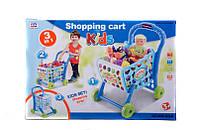 """008-903A-Игровой набор """"Тележка для супермаркета"""" с продуктами"""