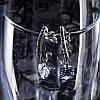 Серцевидные серьги  циркон, фото 2