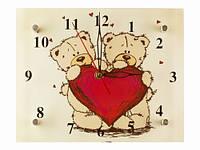 Настенные часы для влюбленных Мишки с сердцем