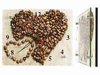 Красивые настенные часы Сердечки