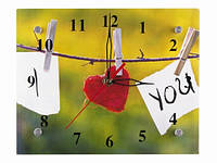 Настенные часы для влюбленных Я тебя люблю