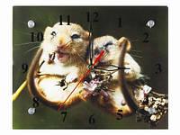 Часы на стену Влюбленные хомячки