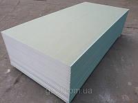 Гипсокартон стеновой влагостойкий Кнауф (Knauf) 3000х1200х12.5мм.