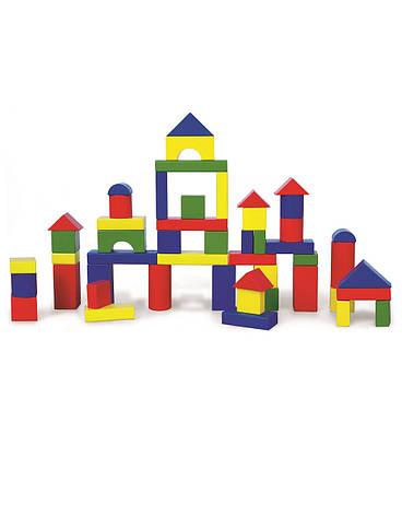 Развивающие и обучающие игрушки «Viga Toys» (59542) набор строительных блоков, 50 шт., фото 2