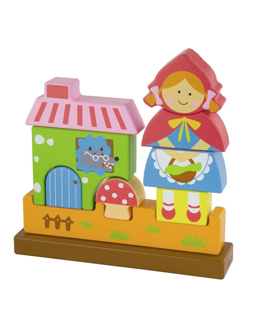 Развивающие и обучающие игрушки «Viga Toys» (50075) деревянный пазл Красная Шапочка