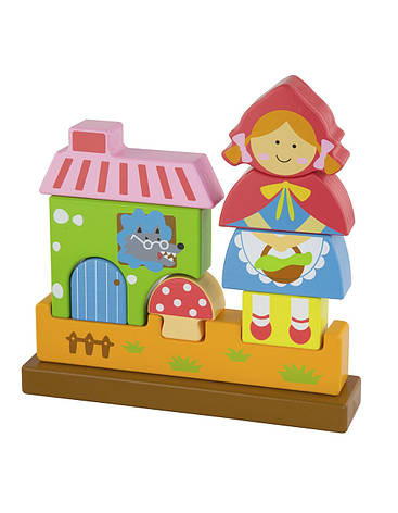 Развивающие и обучающие игрушки «Viga Toys» (50075) деревянный пазл Красная Шапочка, фото 2
