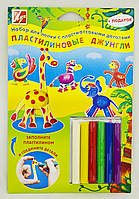 Набор для лепки из пластилина с пластмассовыми деталями Пластилиновые джунгли 21С1373-08