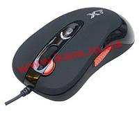 Мышь A4Tech игровая оптическая 5 кноп. USB черная со встроенной памятью (16КБ) с повы (X-705K-Black)