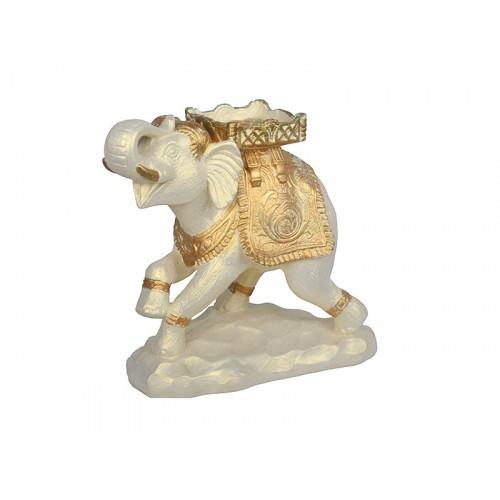 Статуэтка Слон Цирк белый ЛВС-1790