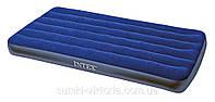 Односпальный надувной матрас Intex 68757 Classic Downy Bed (без насоса) 99 х 191 х 22 см