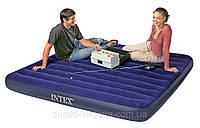 Двуспальный надувной матрас Intex 68755 Classic Downy Bed (без насоса) 183 х 203 х 22 см