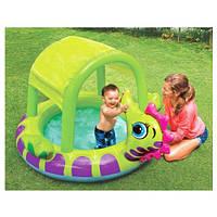 Intex Интекс  57110 Бассейн детский с навесом «Морской конёк»