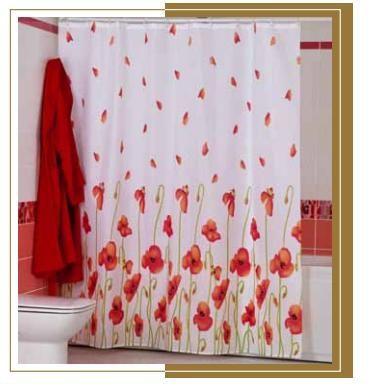 Штора для ванной комнаты MIRANDA poppy