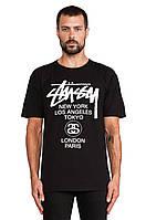 Мужская футболка размер S x`hyfz Stussy World Tour Tee