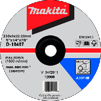 Диск шліфув. Makita 230х6х22мм 24R метал D-18487, фото 1