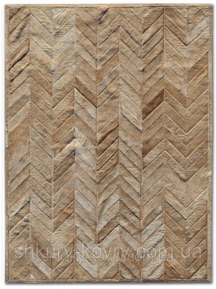 Ковер зиг-заг, кожаные ковры, ковры на заказ Харьков