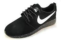 Кроссовки мужские  Nike Roshe Run замшевые, черные (р.42,43,44,45)
