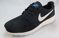 Кроссовки мужские  Nike Roshe Run замшевые, синие (р.42,43,45)