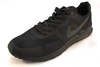Кроссовки мужские  Nike  текстиль, черные (найк)(р.41,42,44)