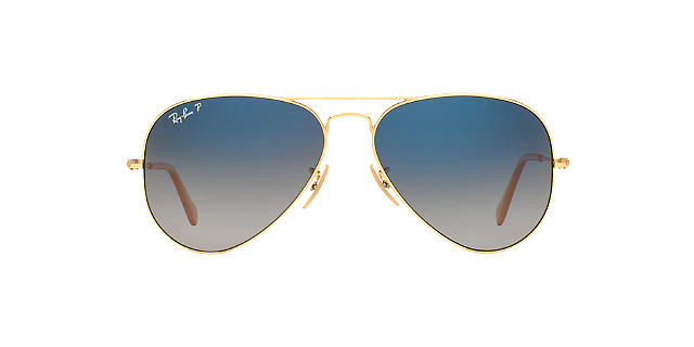 Солнцезащитные очки Ray-Ban Aviator ORIGINAL Gold/Blue Flash Gradient RB3025 58