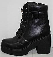 Женские ботинки весна молодежные кожаные, женская обувь весна кожаная от производителя модель Л451Ч