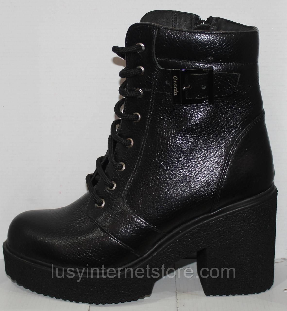 800c104fa Женские ботинки весна молодежные кожаные, женская обувь весна кожаная от  производителя модель Л451Ч - Lusy